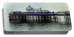 Portable Battery Charger featuring the photograph Wales Boardwalk by Joan  Minchak
