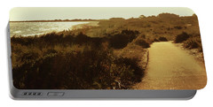 Portable Battery Charger featuring the photograph Walk Along The Beach by Cassandra Buckley