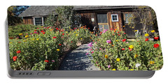 Walk Among The Zinnias Portable Battery Charger by Catherine Gagne