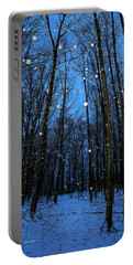 Walk In The Snowy Woods Portable Battery Charger