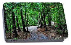 Portable Battery Charger featuring the photograph Walk In The Woodlands by Gary Wonning