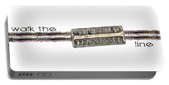 Walk The Line Portable Battery Charger by Heather Applegate