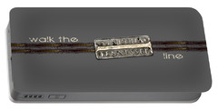 Walk The Line Light Lettering Portable Battery Charger by Heather Applegate