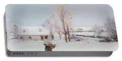 Walk Through The Snow Portable Battery Charger