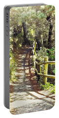 Walk To The Beach Portable Battery Charger by Janie Johnson