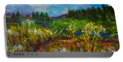 Portable Battery Charger featuring the painting Walk With Me by Claire Bull