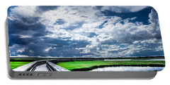 Portable Battery Charger featuring the photograph Walk With Me In The Sky by Karen Wiles