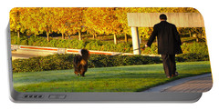 Walkies In Autumn Portable Battery Charger