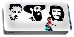 Walking A Revolution Wall In Havana Cuba  Portable Battery Charger