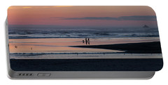 Walking Dogs On The Beach Portable Battery Charger