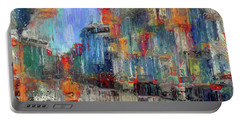 Walking Down Street In Color Splash Portable Battery Charger