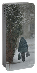 Walking Home In The Snow Portable Battery Charger