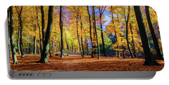 Walking In The Golden Woods Portable Battery Charger