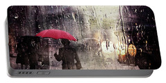 Walking In The Rain Somewhere Portable Battery Charger