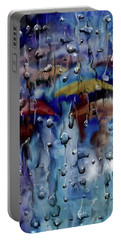 Portable Battery Charger featuring the digital art Walking In The Rainfall by Darren Cannell