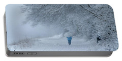 Walking In The Snow Portable Battery Charger