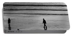 Portable Battery Charger featuring the photograph Walking The Dog At Marazion by Brian Roscorla