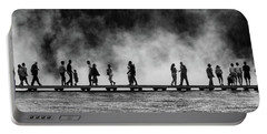 Portable Battery Charger featuring the photograph Walking The Thermals Pano by Lon Dittrick