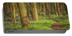 Walking Through The Bluebell Wood Portable Battery Charger