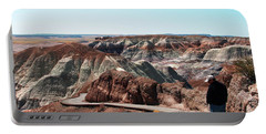 Walking Through The Painted Desert Portable Battery Charger