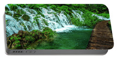 Walking Through Waterfalls - Plitvice Lakes National Park, Croatia Portable Battery Charger