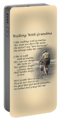 Walking With Grandma Portable Battery Charger