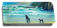 Walking With Grandpa - Painting Portable Battery Charger