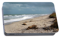 Portable Battery Charger featuring the photograph Walks On The Beach by Megan Dirsa-DuBois