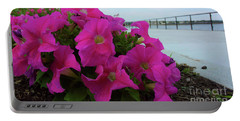 Walkway Petunias Portable Battery Charger