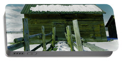 Portable Battery Charger featuring the photograph Walkway To An Old Barn by Jeff Swan