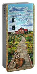 Walkway To Fire Island Lighthouse Portable Battery Charger