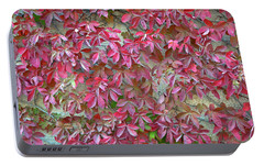 Portable Battery Charger featuring the photograph Wall Of Leaves 1 by Dubi Roman