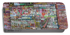 Portable Battery Charger featuring the photograph Wall Of Love by Joel Witmeyer
