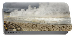 Portable Battery Charger featuring the photograph Wall Of Steam by Sue Smith
