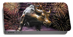 Wall Street Bull Fireworks Portable Battery Charger