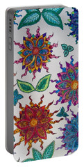 Portable Battery Charger featuring the painting Wallpaper by Megan Walsh