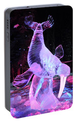 Portable Battery Charger featuring the photograph Walrus Ice Art Sculpture - Alaska by Gary Whitton