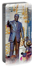 Portable Battery Charger featuring the photograph Walt And Mickey by Mark Andrew Thomas