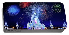 Walt Disney World Fireworks  Portable Battery Charger by Mark Andrew Thomas