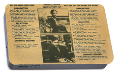 Wanted Poster - Bonnie And Clyde 1934 Portable Battery Charger by F B I