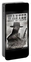 Portable Battery Charger featuring the photograph Wanted Poster Notorious Outlaw by Brad Allen Fine Art