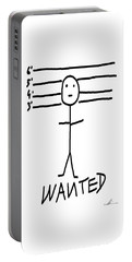 Portable Battery Charger featuring the drawing Wanted - Stickman  by Marianna Mills