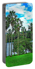 Waokele Pond Palms And Sky Portable Battery Charger
