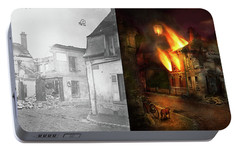 Portable Battery Charger featuring the photograph War - Wwi -  Not Fit For Man Or Beast 1910 - Side By Side by Mike Savad