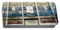 Portable Battery Charger featuring the photograph Warehouse Wall by Wayne Sherriff