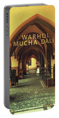 Portable Battery Charger featuring the photograph Warhol Mucha Dali. Series Golden Prague by Jenny Rainbow