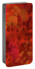 Warm Abstract 1 Portable Battery Charger