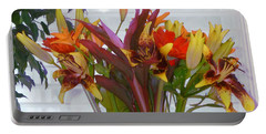 Warm Colored Flowers Portable Battery Charger