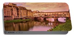 Warm Colors Surround Ponte Vecchio Portable Battery Charger