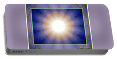 Portable Battery Charger featuring the photograph Warm Cool Sun by Shirley Moravec